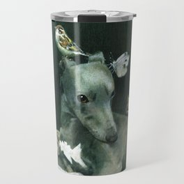 Whippet With Little Friends Travel Mug