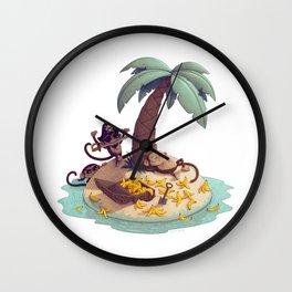 Monkey Desert Island Wall Clock