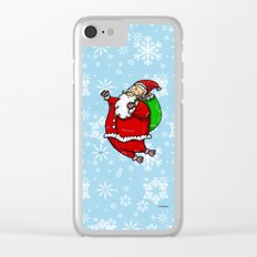 Santa Claus Sbirù Clear iPhone Case