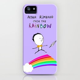 ARTHUR RIMBAUD OVER THE RAINBOW iPhone Case