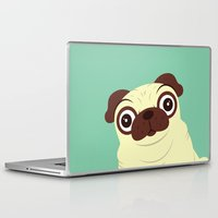 pug Laptop & iPad Skins featuring Pug by Hoborobo