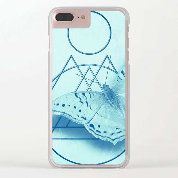 Butterfly in an abstract landscape Clear iPhone Case