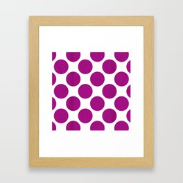 Fuchsia Polka Dot Framed Art Print