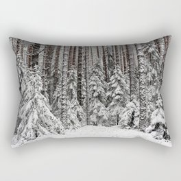 The trees dressed in white Rectangular Pillow