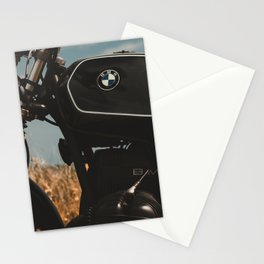 Vintage motorcycle photo, old motorbike, deep of field, bokeh effect, hasselblad Stationery Cards