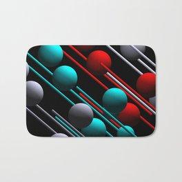 balls and 3 colors Bath Mat