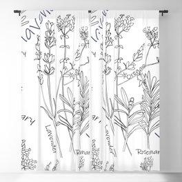 Summer Herbs Blackout Curtain