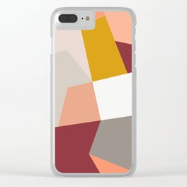 Abstract Geometric 27 Red Clear iPhone Case