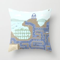 Undertunnels Maze Throw Pillow