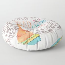 Read More Books - Fox Floor Pillow