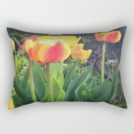 Spring Tulips in Bloom Rectangular Pillow