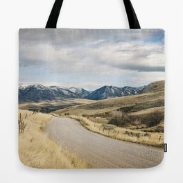 The Road to Snowy Mountains Tote Bag