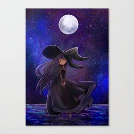 Haunted moonlight Canvas Print