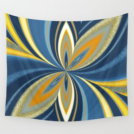 AroAce Pride Pinched Petal Ripples Wall Tapestry
