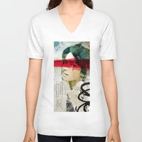 andreas preis V-neck T-shirts featuring Saigon Sally by Vin Zzep