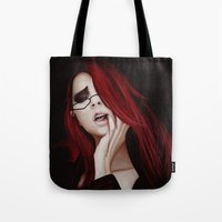 kuroshitsuji Tote Bags featuring Lady Death by hinterdemlicht