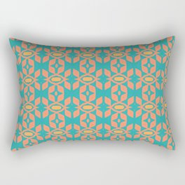 Southwestern Orange Turquoise Pattern Rectangular Pillow