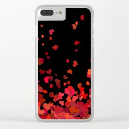 Hearts confetti in the night print Clear iPhone Case