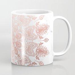 Dancing Mandala Rose Gold Coffee Mug