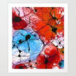 Red Flower Art - Wild Flowers - Sharon Cummings Art Print