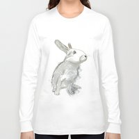 rabbit Long Sleeve T-shirts featuring Rabbit by Melissa McGill