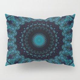 Mandala in light and dark blue tones Pillow Sham