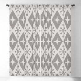 Mid Century Modern Atomic Triangle Pattern 710 Gray Blackout Curtain