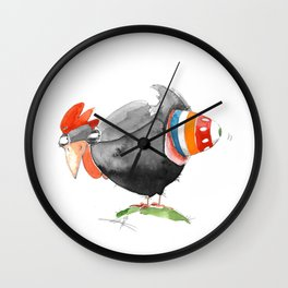 Hen and Egg Story Wall Clock