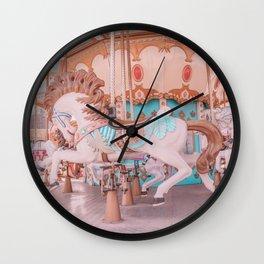 Vintage carousel Wall Clock