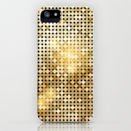 gold sparkles iPhone Case