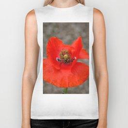 Bright Red Poppy by Teresa Thompson Biker Tank