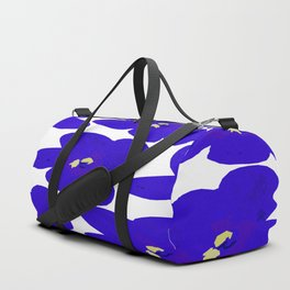 Blue Retro Flowers #decor #society6 #buyart Duffle Bag