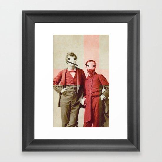 the backslash brothers Framed Art Print