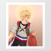 enjolras Art Prints featuring Enjolras by icarusdrunk