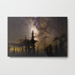 Mountain Milky Way Metal Print