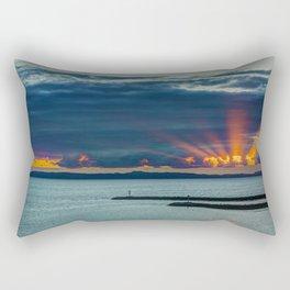 Sunset Behind Catalina Rectangular Pillow