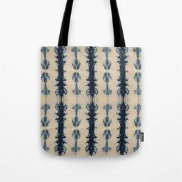Shibori Flowers Tote Bag