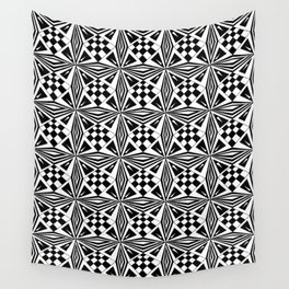 black and white symetric patterns 19- bw, mandala,geometric,rosace,harmony,star,symmetry Wall Tapestry