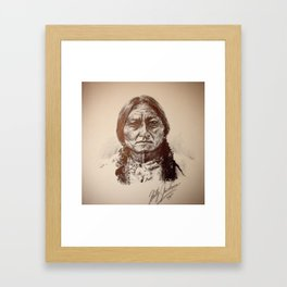 Sitting Bull Framed Art Print