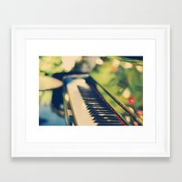 piano Framed Art Prints featuring piano by Kristina Strasunske