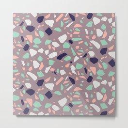 Modern Organic Terrazzo Vector Pattern Metal Print