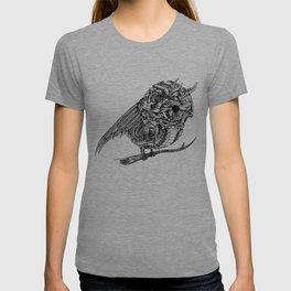 Mechanical Owl   Line Art T-shirt