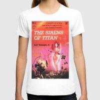 vonnegut T-shirts featuring Vonnegut -  The Sirens of Titan by Neon Wildlife