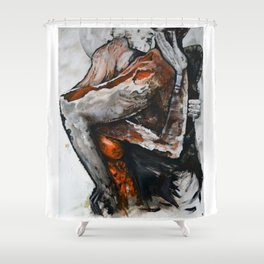 Surreal lovers Shower Curtain
