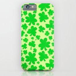 Shamrock showers iPhone Case