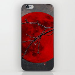 Modern Blood Red Moon Rain Gothic Decor A175 iPhone Skin
