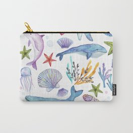 under the sea watercolor Carry-All Pouch