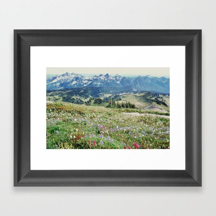 Wildflower Meadow Gerahmter Kunstdruck