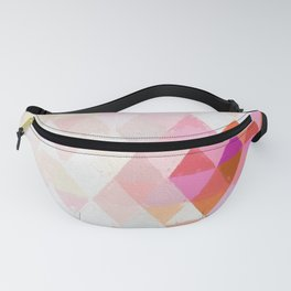 Abstract pink pastell triangle pattern - Watercolor illustration Fanny Pack