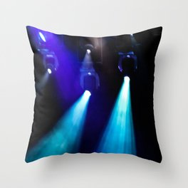 Blue Lights Throw Pillow